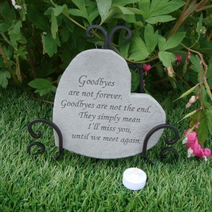 Memorial gifts heart shaped memorial stones goodbyes special memorials for Garden memorials for loved ones
