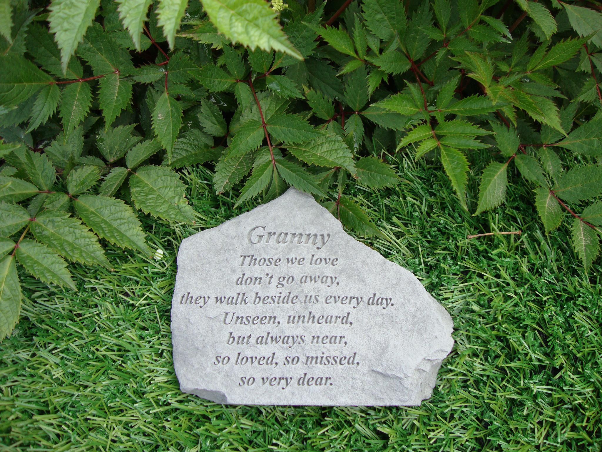Memorial Stones Granny Garden Stone Grave Ornament