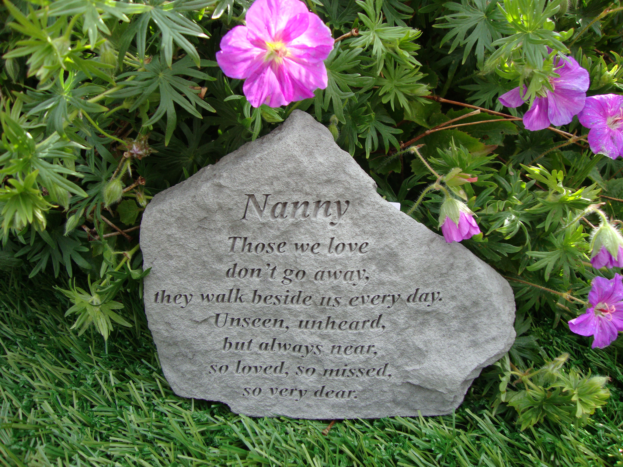 Sympathy Stones For The Garden Grave plaques nanny memorial garden memorials special memorials click the image to enlarge workwithnaturefo