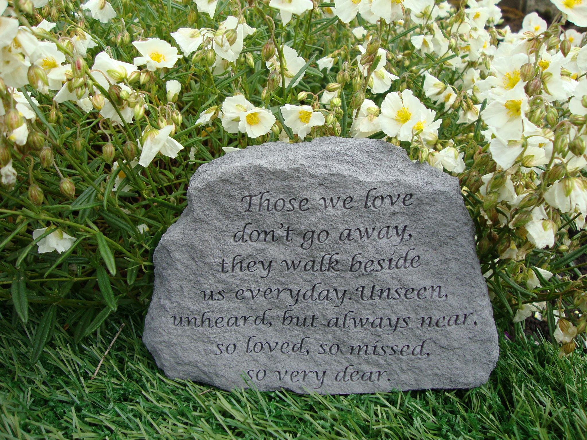 Memorial stones those we love grave memorials special memorials for Garden memorials for loved ones