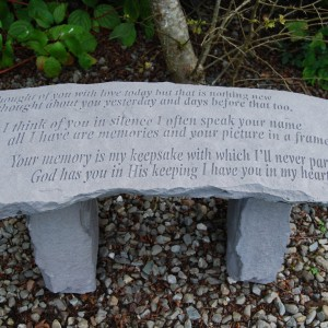 Garden Memorial Bench Stone Bench Thoughts Special